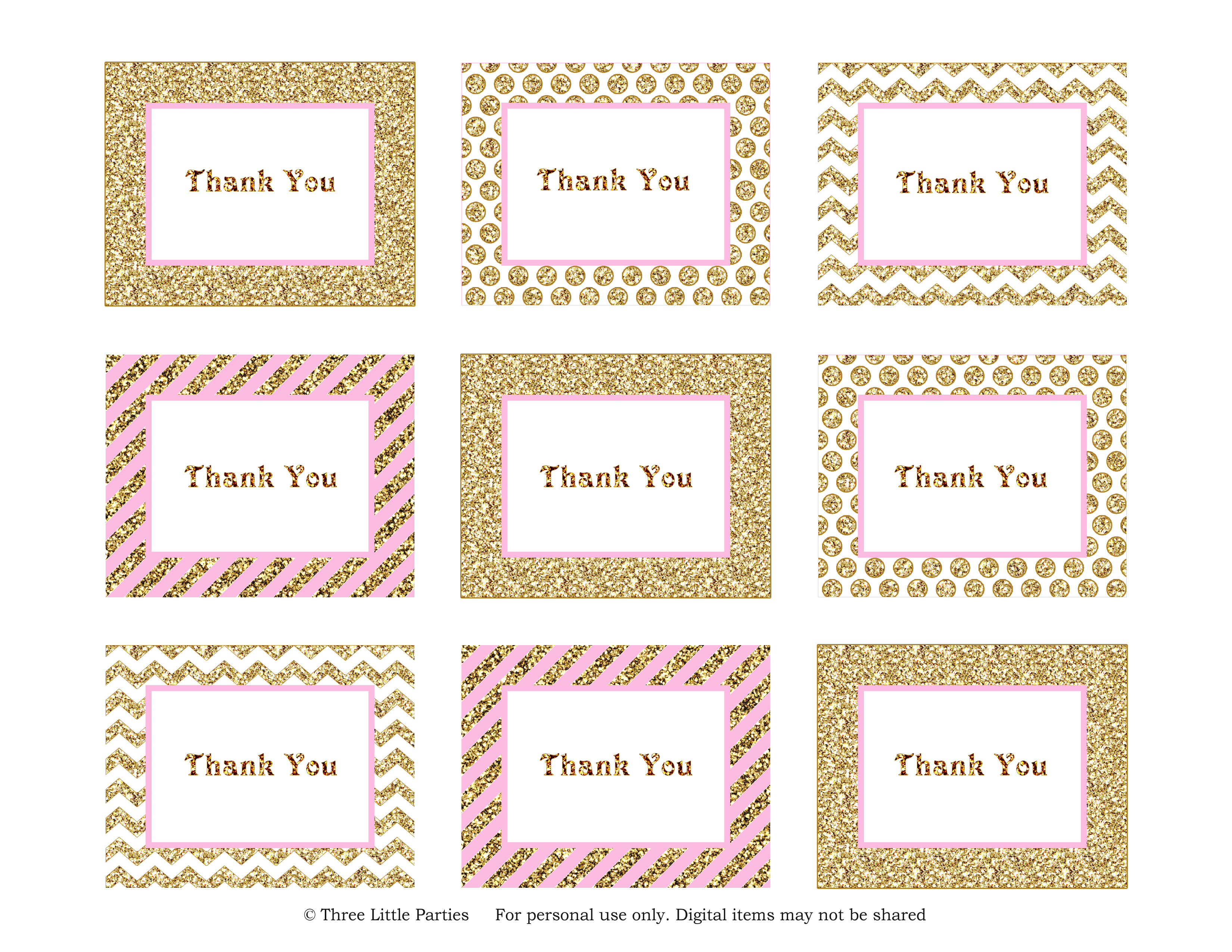 image regarding Thank You Tag Printable referred to as Sparkle Thank Your self Tags Freebie