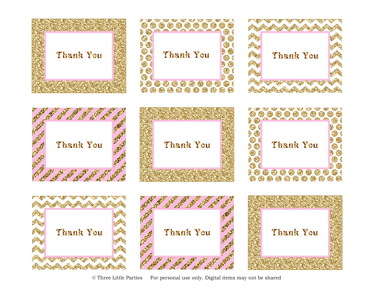 sparkle thank you tags freebie